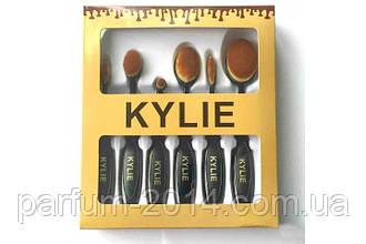 Набір кистей для макіяжу від KYLIE для тональної основи, консиллера, пудри, рум'ян (репліка)