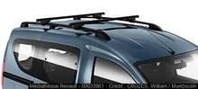 Багажные дуги на Renault  Dokker для рейлингов (Original) - 8201299011
