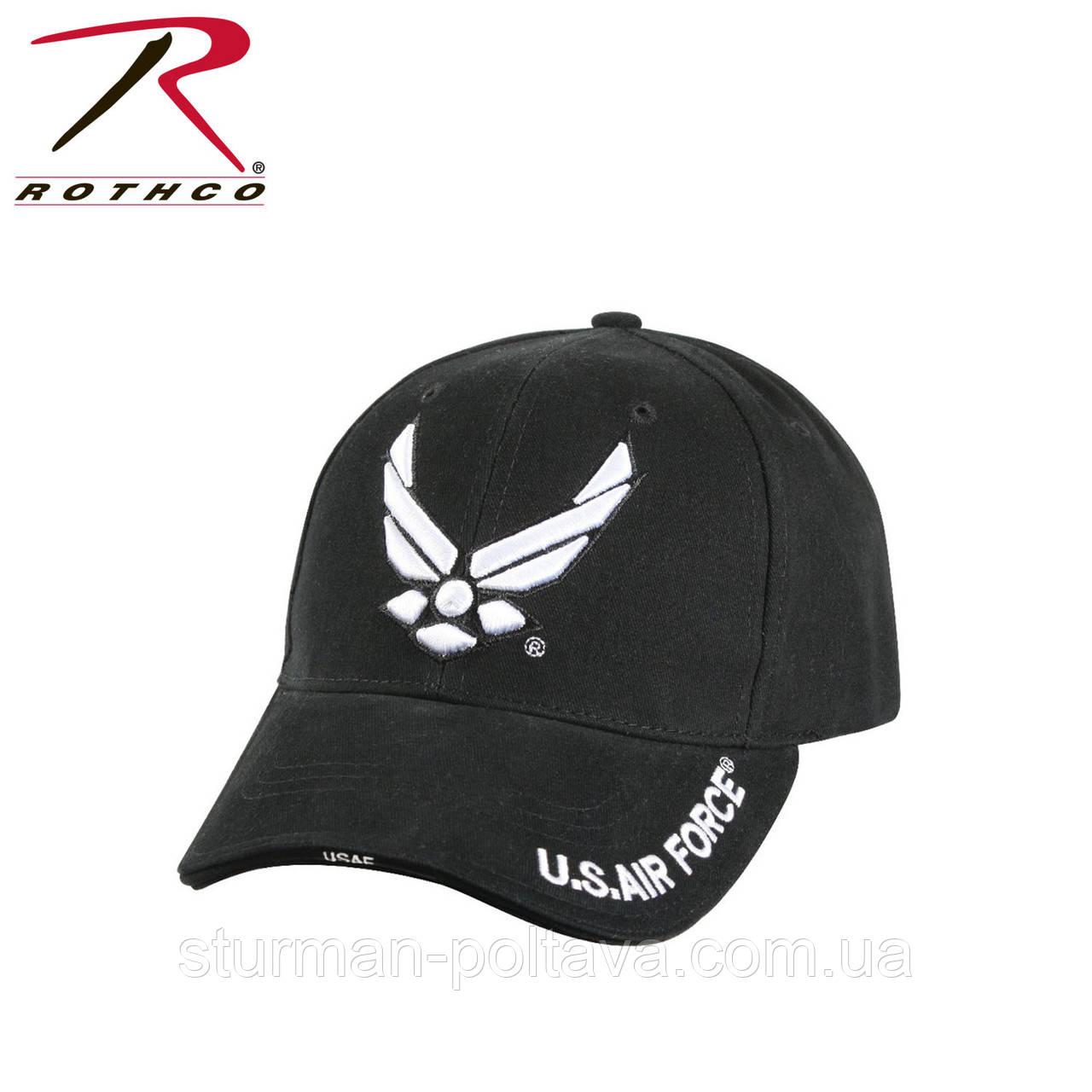 Бейсболка мужская  черная с логотипом ВВС Авиация Rotcho USA
