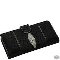Женский черный кошелек из кожи ската Ekzotic Leather stw23