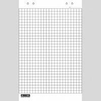 Блок паперу для фліпчартів Бюромакс 640*900 20л. клітинка