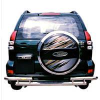 Защита заднего бампера (подножка) для Toyota Land Cruiser 120 2002—2009