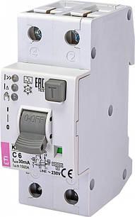 Диффер. автоматический выключатель KZS-2M2p EDI 6А С