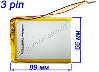 Аккумулятор 3800mAh 456690 для планшетов и электронных книг с выходом на 3 контакта (3 pin)