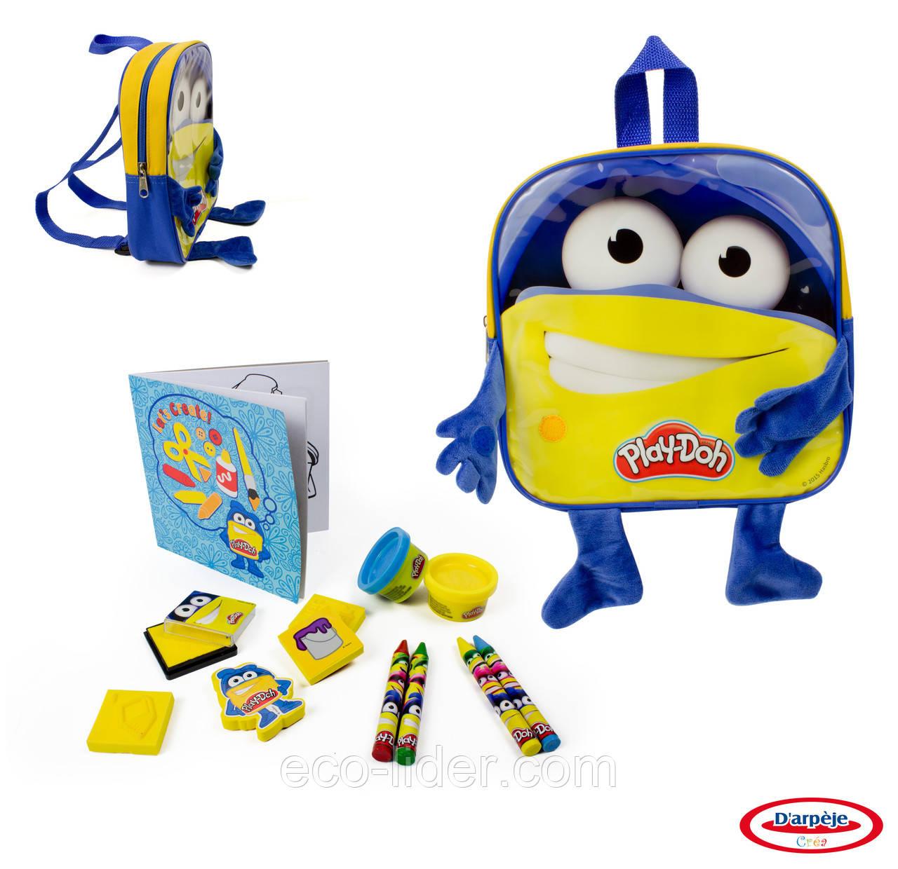 Набор для творчества PLAY-DOH - РЮКЗАК СКАЙ (штемпели, восковые карандаши, масса для лепки, аксес.)