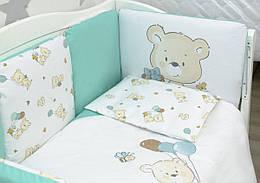 """Детский постельный комплект Veres """"Playday mint"""" 6 единиц"""