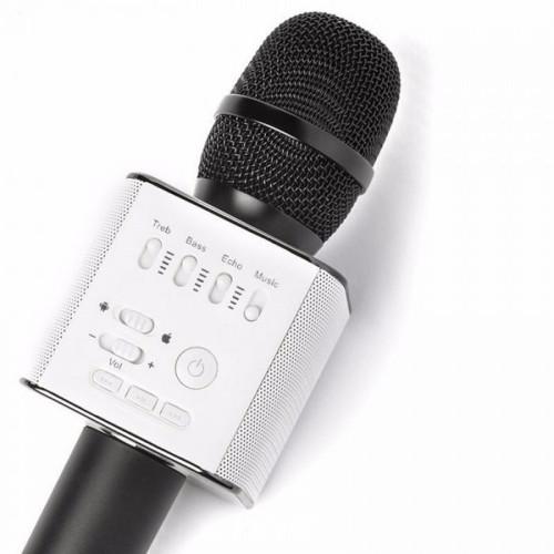 Безпровідний мікрофон для караоке Tuxun Q9 чорний з колонкою + чохол