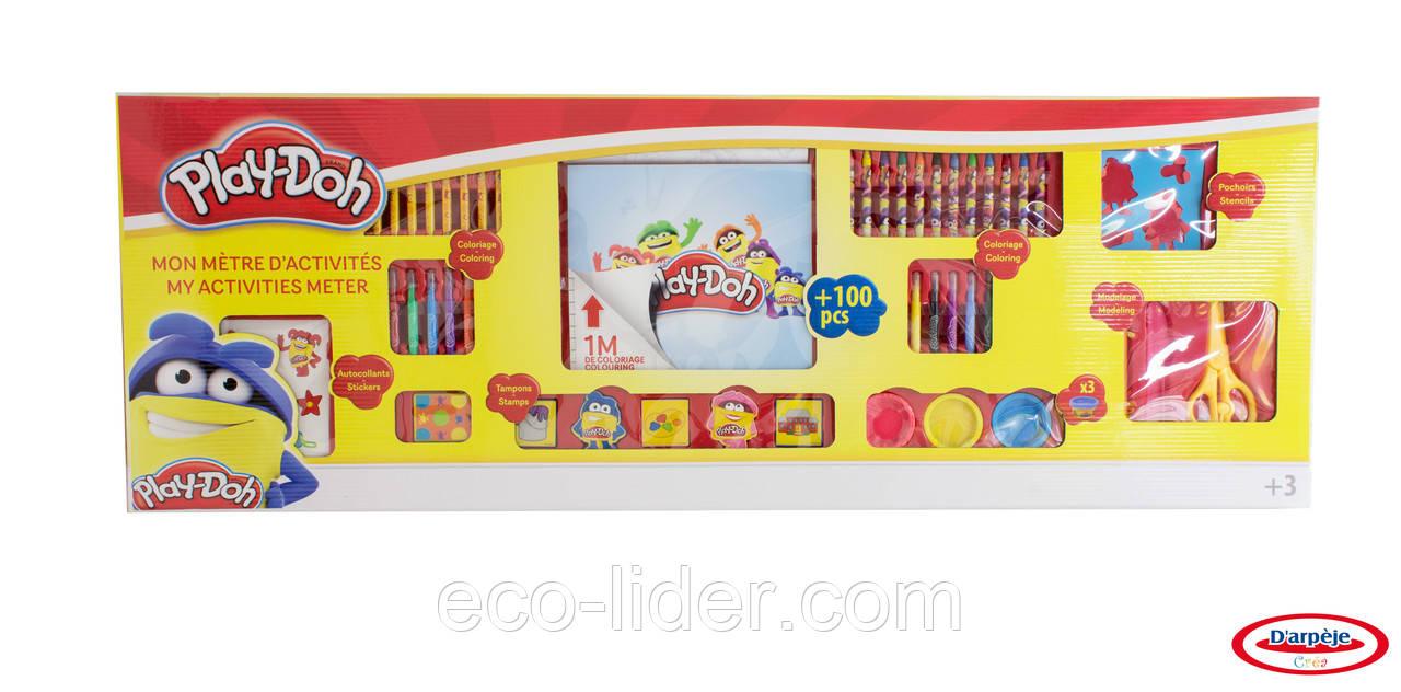 Набор для творчества PLAY-DOH - МЕГАМЕТР (маркеры, восковые карандаши, масса для лепки, аксес.)