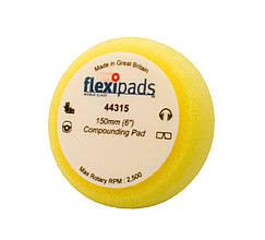 """Полировальный круг жесткий - Flexipads Pro-Bodyshop Heavy Compounding 150x50 мм. (6"""") жёлтый (44315)"""