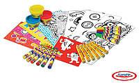 Набор для творчества PLAY-DOH - АРТ-ТЕЛЕЖКА (восковые карандаши, маркеры, масса для лепки, аксес.)