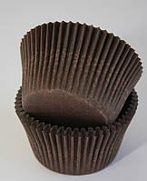 Форма бумажная коричневая для кексов тарталетка 1000 шт., фото 1