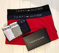 Подарочный набор мужского нижнего белья Tommy Hilfiger,трусы мужские - боксеры, шорты (3шт) реплика