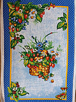 """Полотенце кухонное """"Композиция из цветов и ягод"""""""