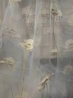 Тюль Цветок органза,высота 2,80м
