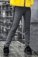 Брюки классические женские Глэм мех, (3цв), тёплые брюки, брюки на меху