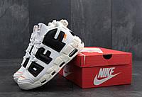 Кроссовки мужские Off-White x Nike Air More Uptempo White Реплика