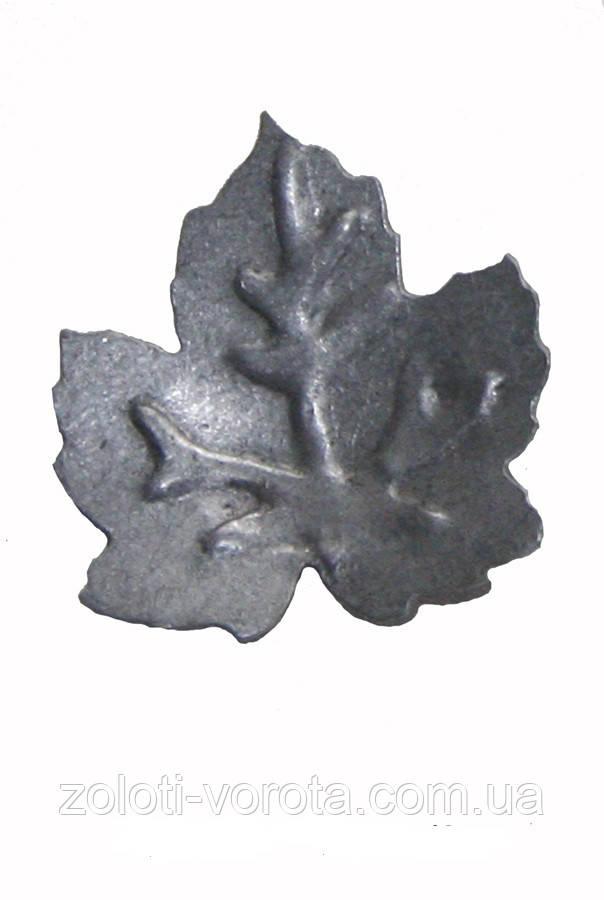 Кованый элемент лист виноградный М 50