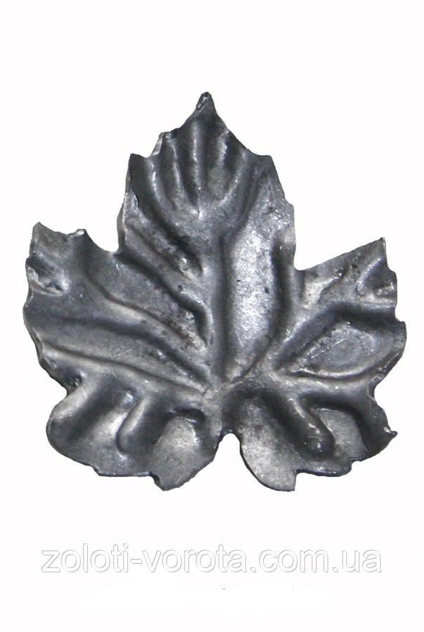 Кований елемент лист виноградний М 70