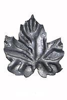 Кованый элемент лист виноградный М 70