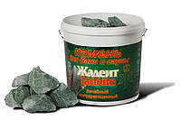 Камни для бани жадеит колотый средний 20 кг