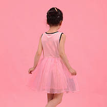 Летнее платье с красивым кружевом для девочки бежжевое , фото 3