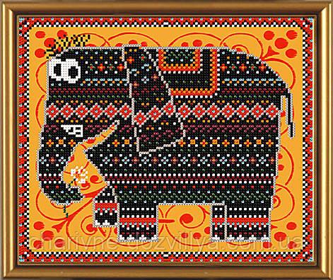 Вышивка бисером схема слон
