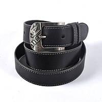 Мужской модный кожаный ремень DIESEL (черный)
