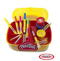 Набор для творчества PLAY-DOH - АРТ-САКВОЯЖ (маркеры, восковые карандаши, краски, аксес.)