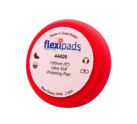 """Полировальный круг ультра мягкий - Flexipads Pro-Bodyshop Ultra Soft Polishing 150x50 мм. (6"""") красный (44420), фото 2"""
