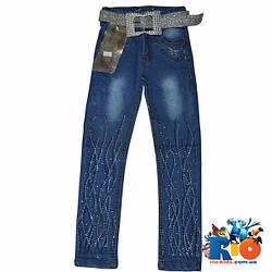 Детские джинсы для девочек 5-9 лет (20-28 р-р), 5 ед в уп