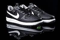 Новинка! Мужские кроссовки Nike Lunar Force 2018 / Сезон : осень - весна , Цвет черный с белыми вставками