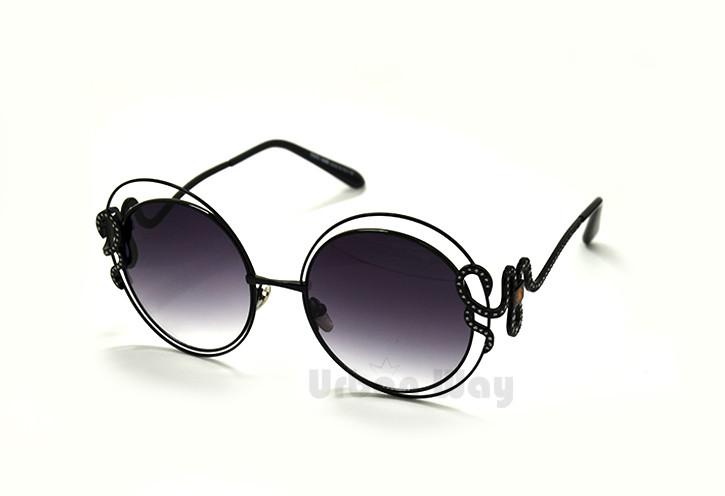 c2b628f2dfbf Женские солнцезащитные очки Roberto Cavalli, в утончённой круглой оправе -  Интернет - магазин