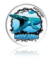 """Закатної круглий значок - """"Мозазавр"""""""
