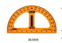 ZB.5659 Транспортир TEACHER для школьной доски 50 см, желтый