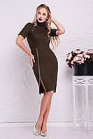 Повседневное Платье Зафира к/р S, хаки