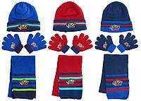 Шапка+шарф+перчатки для мальчиков Avengers оптом.