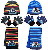 Шапка+шарф+перчатки для мальчиков Star Wars оптом., фото 1