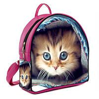 Розоый рюкзак с котиком