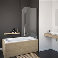 Шторка для ванны Eger 80 см, правая 599-02R grey