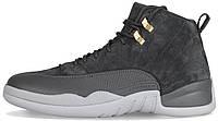 """Баскетбольные кроссовки Nike Air Jordan 12 Retro """"Dark Grey"""" (Найк Аир Джордан 12) серые"""