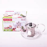 Заварочный чайник Kamille 1601 стеклянный 600мл