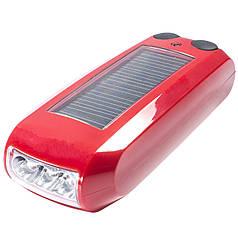 Фонарь для велосипеда HAOYI красный с солнечной панелью