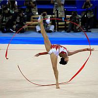 Лента для художественной гимнастики красная