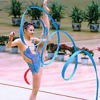 Лента с палочкой для художественной гимнастики синяя