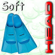 Ласты для плавания HEAD SOFT р.33/34 (Голубые)