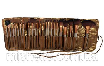 Набор кистей NAKED GOLD (24 шт в чехле)