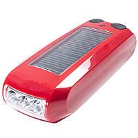 Фонарь Haoyi Красный велосепедный с солнечной батареей
