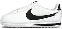 Мужские кроссовки Nike Classic Cortez Leather White/Black (Найк Кортес) белые