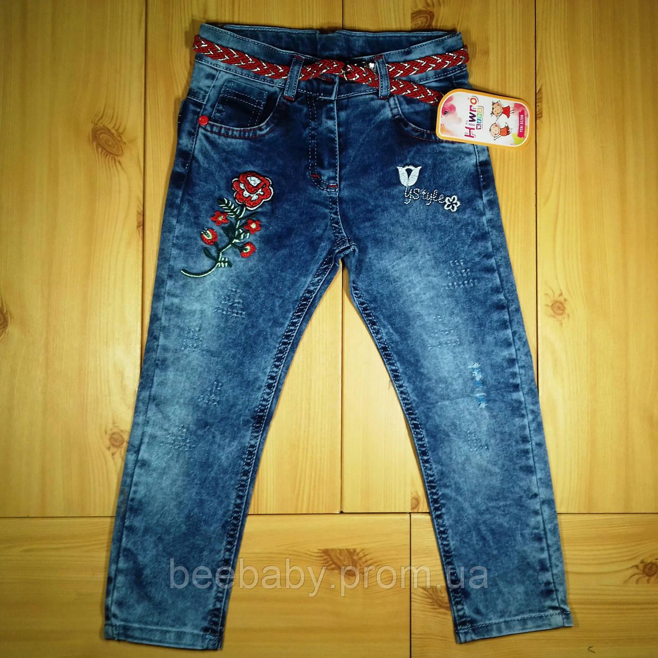 97abc89931e0a89 Детские джинсы для девочки рр. 98-122 Цветы Beebaby (Бибеби) - Beebaby