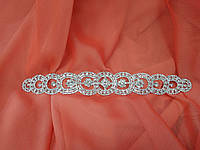 Украшение на пояс для свадебного или вечернего платья с камнями Swarovski